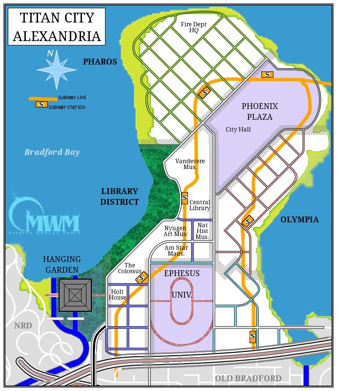 Detailled map of Alexandria
